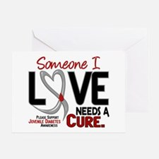 Needs A Cure 2 JUVENILE DIABETES Greeting Card
