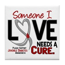 Needs A Cure 2 JUVENILE DIABETES Tile Coaster