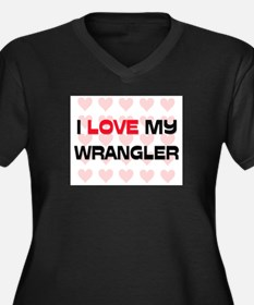 I Love My Wrangler Women's Plus Size V-Neck Dark T