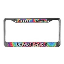 Peace Love Shamrocks License Plate Frame