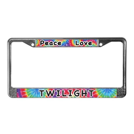 Peace Love Twilight License Plate Frame