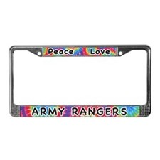 Peace Love Army Rangers License Plate Frame