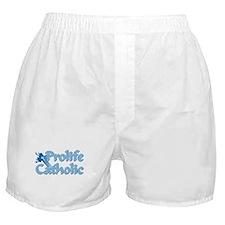 Prolife Catholic Cross Boxer Shorts