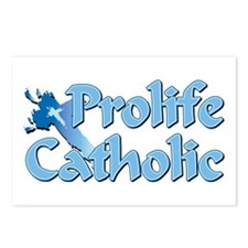 Prolife Catholic Cross Postcards (Package of 8)