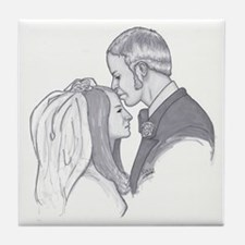 George & Joanie Tile Coaster