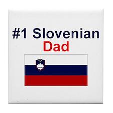 #1 Slovenian Dad Tile Coaster