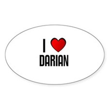 I LOVE DARIAN Oval Decal