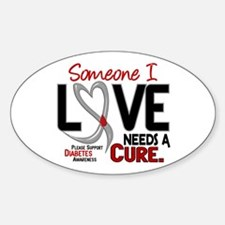 Needs A Cure 2 DIABETES Oval Decal