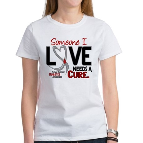 Needs A Cure 2 DIABETES Women's T-Shirt