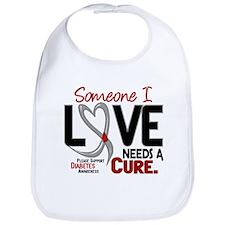 Needs A Cure 2 DIABETES Bib