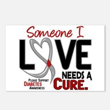 Needs A Cure 2 DIABETES Postcards (Package of 8)