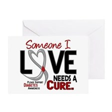 Needs A Cure 2 DIABETES Greeting Card