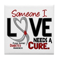 Needs A Cure 2 DIABETES Tile Coaster