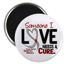 "Needs A Cure 2 DIABETES 2.25"" Magnet (10 pack)"