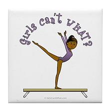 Dark Gymnastics Tile Coaster