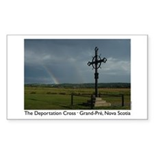 Deportation Cross Rectangle Decal