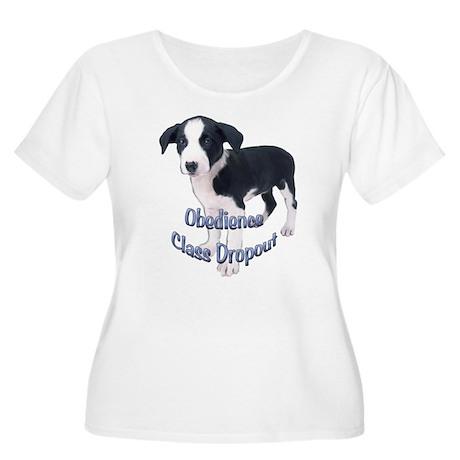 fox terrier obedience Women's Plus Size Scoop Neck
