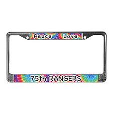 Peace Love 75th Rangers License Plate Frame