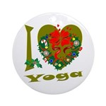 I Love Yoga Ornament (Round)