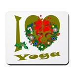 I Love Yoga Mousepad