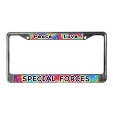 Peace Love Special Forces License Plate Frame