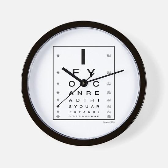 Too Close! Wall Clock