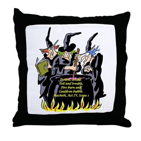 Macbeth1 Throw Pillow