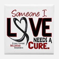 Needs A Cure 2 MELANOMA Tile Coaster