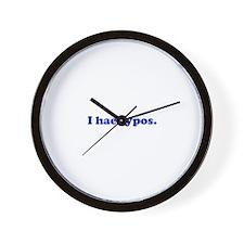 I hae typos - Blue Wall Clock