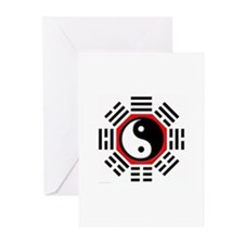 I ching yin yang Greeting Cards (Pk of 10)