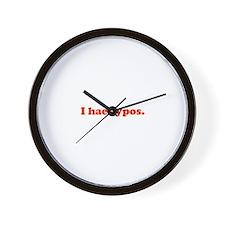 I hae typos - red Wall Clock