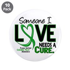 """Needs A Cure 2 CEREBRAL PALSY 3.5"""" Button (10 pack"""