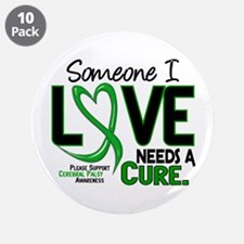 "Needs A Cure 2 CEREBRAL PALSY 3.5"" Button (10 pack"