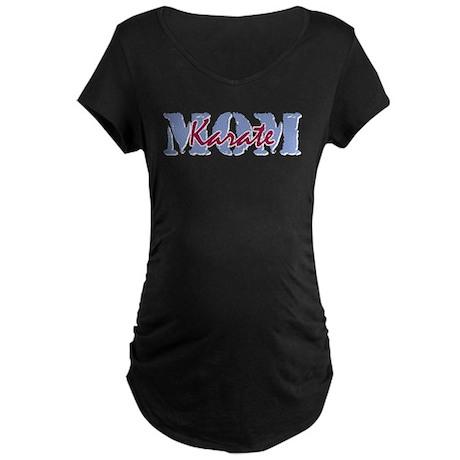Karate Mom Maternity Dark T-Shirt