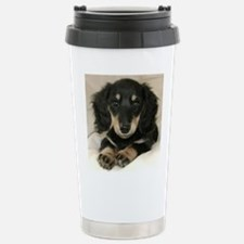 Long Haired Puppy Stainless Steel Travel Mug