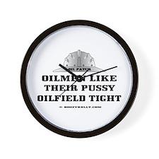 Oilfield Tight Wall Clock,Oil Field, Gasfield,Oil