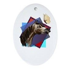 Happy Horse Expressions Oval Ornament