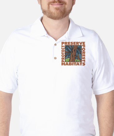 Preserve Forest Habitats Golf Shirt