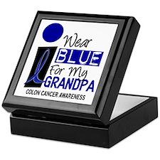 I Wear Blue For My Grandpa 9 CC Keepsake Box