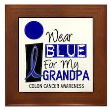 I Wear Blue For My Grandpa 9 CC Framed Tile