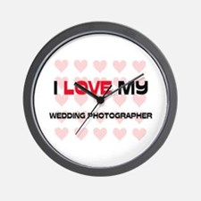 I Love My Wedding Photographer Wall Clock