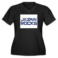 jazmin rocks Women's Plus Size V-Neck Dark T-Shirt