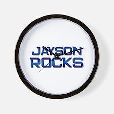 jayson rocks Wall Clock