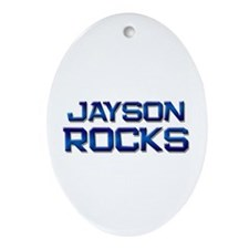 jayson rocks Oval Ornament