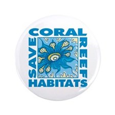 "Save Coral Reefs 3.5"" Button"