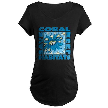 Save Coral Reefs Maternity Dark T-Shirt