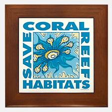 Save Coral Reefs Framed Tile