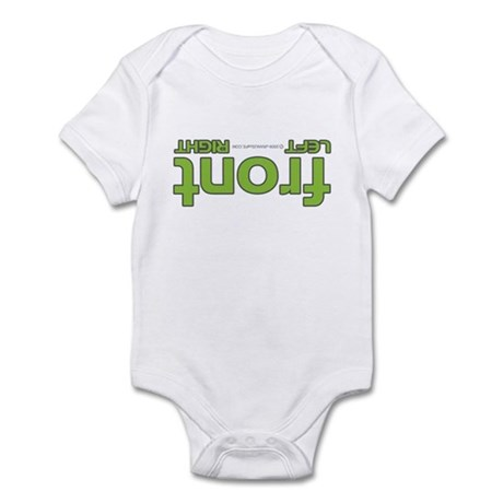 Front right left green Infant Bodysuit