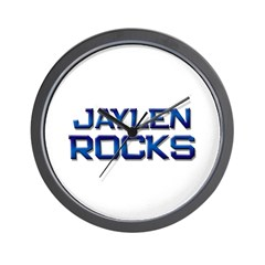 jaylen rocks Wall Clock