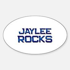 jaylee rocks Oval Decal